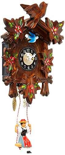 カッコー時計 インテリア 壁掛け時計 海外モデル アメリカ 【送料無料】Alexander Taron 0126-6SQ Engstler Battery-Operated Clock - Mini Size with Music/Chimes - 6.75