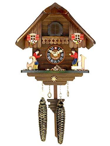 カッコー時計 インテリア 壁掛け時計 海外モデル アメリカ 【送料無料】Loetscher Authentic Handcrafted Cuckoo Clock - Classic Emmental Chalet with Quartz Motorカッコー時計 インテリア 壁掛け時計 海外モデル アメリカ