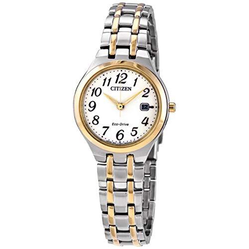 シチズン 逆輸入 海外モデル 海外限定 アメリカ直輸入 【送料無料】Citizen EW2486-52A Women's Eco-Drive White Dial TT Bracelet Watchシチズン 逆輸入 海外モデル 海外限定 アメリカ直輸入