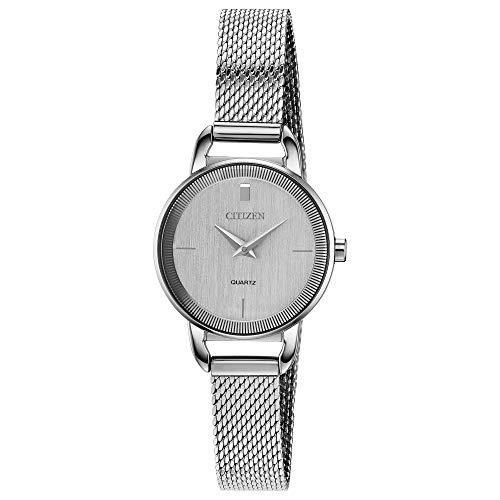 シチズン 逆輸入 海外モデル 海外限定 アメリカ直輸入 【送料無料】Citizen Women's Japanese-Quartz Stainless-Steel Strap, Silver, 10 Casual Watch (Model: EZ7000-50A)シチズン 逆輸入 海外モデル 海外限定 アメリカ直輸入