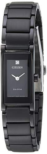 シチズン 逆輸入 海外モデル 海外限定 アメリカ直輸入 【送料無料】Citizen Women's Eco-Drive Japanese-Quartz Stainless-Steel Strap, Black, 14 Casual Watch (Model: EG7055-51E)シチズン 逆輸入 海外モデル 海外限定 アメリカ直輸入