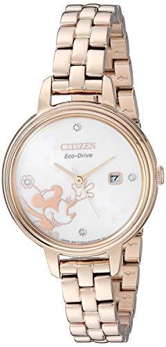 シチズン 逆輸入 海外モデル 海外限定 アメリカ直輸入 【送料無料】Citizen Women's Mickey Mouse & Friends Quartz Stainless Steel Strap, Rose Gold, 10 Casual Watch (Model: EW2448-51W)シチズン 逆輸入 海外モデル 海外限定 アメリカ直輸入