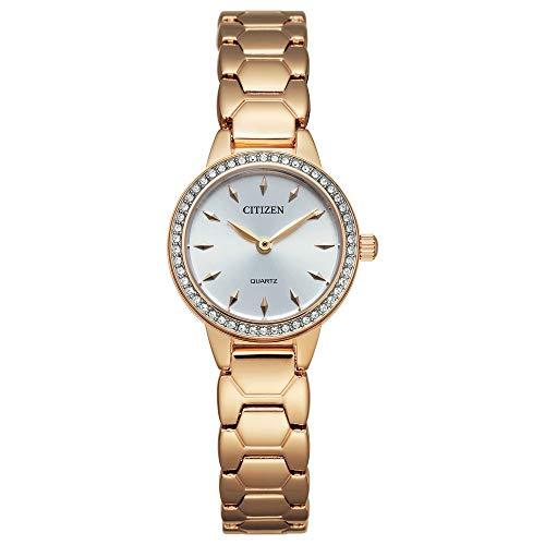 シチズン 逆輸入 海外モデル 海外限定 アメリカ直輸入 【送料無料】Citizen Women's Quartz Stainless Steel Strap, Rose Gold, 12 Casual Watch (Model: EZ7013-58A)シチズン 逆輸入 海外モデル 海外限定 アメリカ直輸入