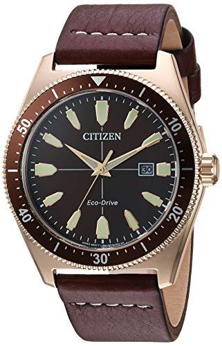 シチズン 逆輸入 海外モデル 海外限定 アメリカ直輸入 【送料無料】Citizen Men's Eco-Drive Stainless Steel Japanese-Quartz Leather Calfskin Strap, Brown, 21 Casual Watch (Model: AW1593-06X)シチズン 逆輸入 海外モデル 海外限定 アメリカ直輸入