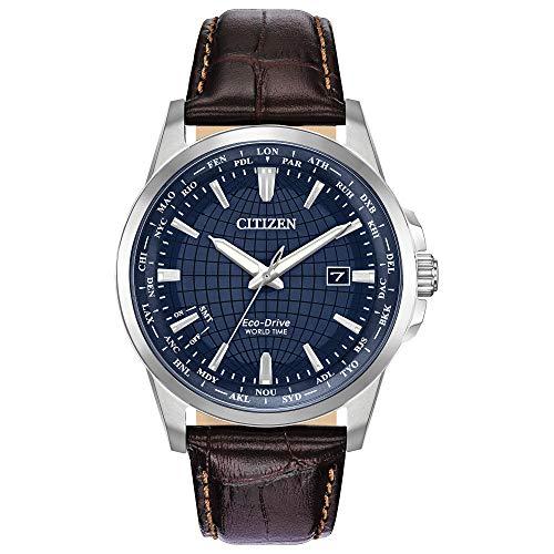 シチズン 逆輸入 海外モデル 海外限定 アメリカ直輸入 【送料無料】Citizen Men's World Time Perpetual Calendar Stainless Steel Quartz Watch with Leather Calfskin Strap, Brown, 22 (Model: BX1000-06Lシチズン 逆輸入 海外モデル 海外限定 アメリカ直輸入