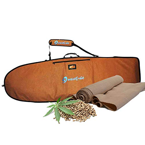サーフィン ボードケース バックパック マリンスポーツ Wave Tribe Surfboard Bag - Hemp Day Bag Keeps Surfboard Cooler + Alloy Reflection - YKK Never Break Nickel Plated Zippers - 4 Pockets (Grizzly Beaサーフィン ボードケース バックパック マリンスポーツ