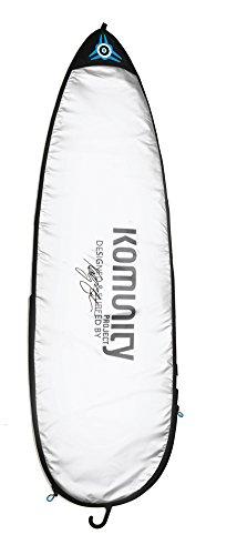 サーフィン ボードケース バックパック マリンスポーツ Komunity Silver Stormrider Single Day Use Shortboard Bag - 5 Foot 8 Inchサーフィン ボードケース バックパック マリンスポーツ