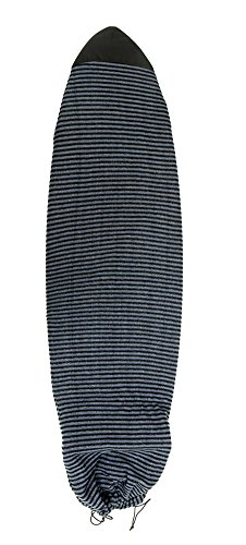 サーフィン ボードケース バックパック マリンスポーツ Komunity Fish Board Sock - Black/Grey, 6'3