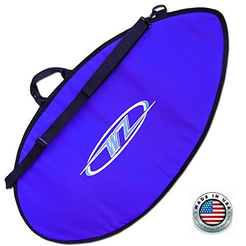 サーフィン ボードケース バックパック マリンスポーツ Wave Zone Skimboards Bag - Travel or Day Use - Padded (Blue, Large - 59