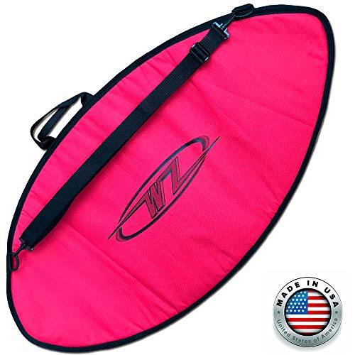 サーフィン ボードケース バックパック マリンスポーツ 【送料無料】Wave Zone Skimboards Bag - Travel or Day Use - Padded (Red, Medium - 53