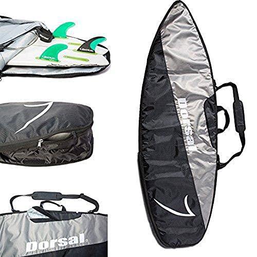 サーフィン ボードケース バックパック マリンスポーツ DORSAL-STORMBAG-90IN Dorsal Travel Shortboard Surfboard Bag [5'10, 6'0, 6'2, 6'6, 6'8, 7'0, 7'6] 7'6 / Black/Greyサーフィン ボードケース バックパック マリンスポーツ DORSAL-STORMBAG-90IN