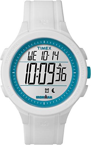 腕時計 タイメックス メンズ 【送料無料】Timex Unisex Ironman Essential 30 Lap LCD Dial with a White Resin Strap Watch TW5M14800腕時計 タイメックス メンズ