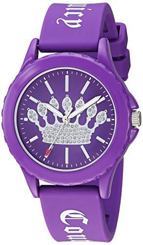 ジューシークチュール レディース 【送料無料】Juicy Couture Black Label Women's Glitter Accented Purple Silicone Strap Watchジューシークチュール レディース