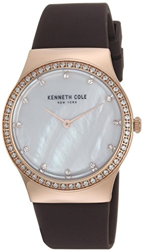腕時計 ケネスコール・ニューヨーク Kenneth Cole New York レディース 【送料無料】Kenneth Cole New York Women's Stainless Steel Analog-Quartz Watch with Silicone Strap, Brown, 20 (腕時計 ケネスコール・ニューヨーク Kenneth Cole New York レディース