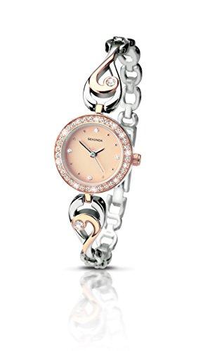 セコンダ イギリス 腕時計 レディース 【送料無料】Sekonda Women's Quartz Watch with Rose Gold Dial Analogue Display and Multi-Colour Alloy Bracelet 2105.27セコンダ イギリス 腕時計 レディース