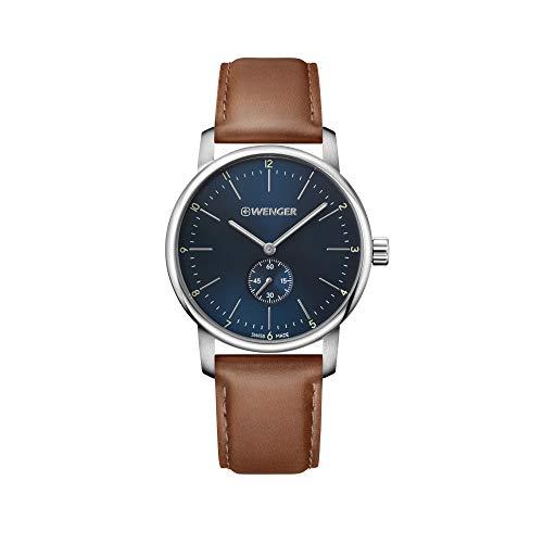 ウェンガー スイス メンズ 腕時計 【送料無料】Wenger Urban Classic Chrono Mens Analog Quartz Watch with Leather Bracelet 01.1741.103ウェンガー スイス メンズ 腕時計
