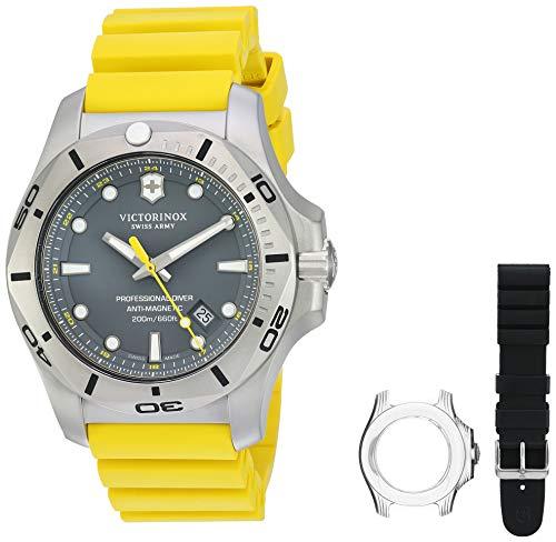 腕時計 ビクトリノックス スイス レディース,ウィメンズ 【送料無料】Victorinox I.N.O.X. Analog Quartz Watch with Titanium Strap, Yellow, 22 (Model: 241844)腕時計 ビクトリノックス スイス レディース,ウィメンズ