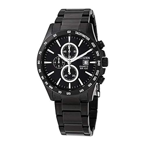 シチズン 逆輸入 海外モデル 海外限定 アメリカ直輸入 【送料無料】Citizen Chronograph Quartz Black Dial Men's Watch AN3645-51Eシチズン 逆輸入 海外モデル 海外限定 アメリカ直輸入