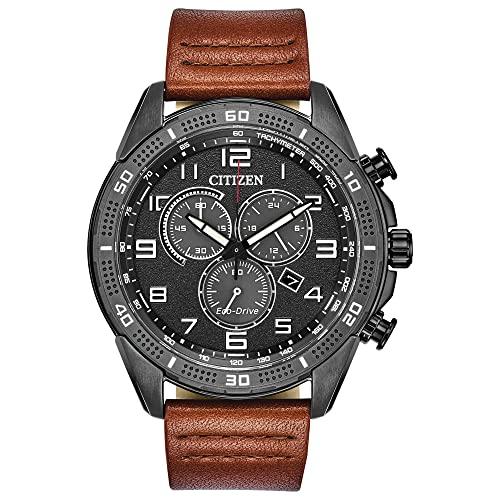 腕時計 シチズン 逆輸入 海外モデル 海外限定 【送料無料】Citizen Men's Drive Stainless Steel Quartz Leather Calfskin Strap, Brown, 22 Casual Watch (Model: AT2447-01E)腕時計 シチズン 逆輸入 海外モデル 海外限定