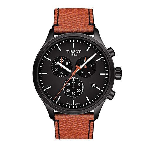 ティソ 腕時計 メンズ 【送料無料】Tissot Men's NBA Special Edition Stainless Steel Quartz Sport Watch with Spalding Leather Strap, Orange (Model: T1166173605112)ティソ 腕時計 メンズ