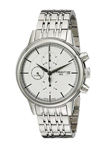 ティソ 腕時計 メンズ 【送料無料】Tissot Men's T0854271101100 Carson Analog Display Swiss Automatic Silver Watchティソ 腕時計 メンズ