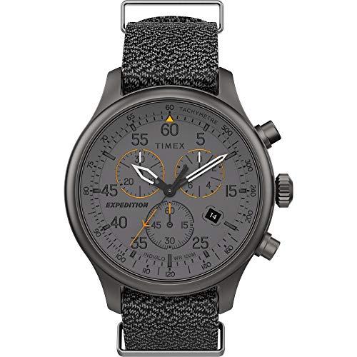 タイメックス 腕時計 メンズ 【送料無料】Timex TW2T72900 Men's Expedition Field Chronograph Grey Fabric Band Grey Dial Watchタイメックス 腕時計 メンズ