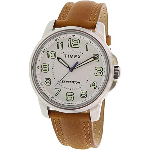 腕時計 タイメックス メンズ 【送料無料】Timex Men's Expedition TW4B16400 Silver Leather Japanese Quartz Fashion Watch腕時計 タイメックス メンズ