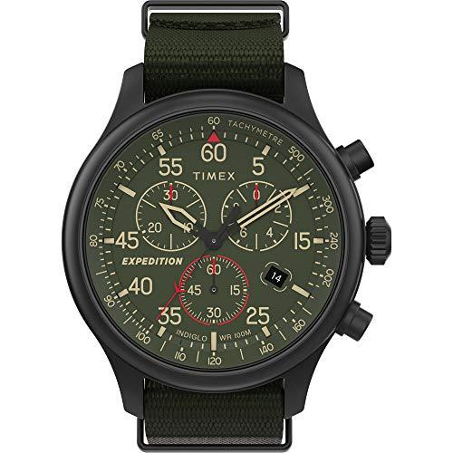 タイメックス 腕時計 メンズ 【送料無料】Timex TW2T72800 Men's Expedition Field Chronograph Green Fabric Band Green Dial Watchタイメックス 腕時計 メンズ