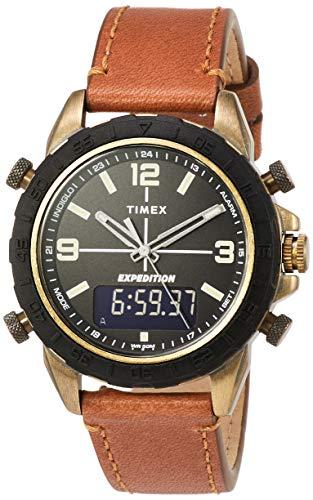 腕時計 タイメックス メンズ 【送料無料】Timex Expedition Pioneer Combo 41 mm Brown Leather Watch TW4B17200腕時計 タイメックス メンズ