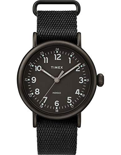 腕時計 タイメックス メンズ 【送料無料】Timex 40 mm Standard Fabric Strap Black One Size腕時計 タイメックス メンズ