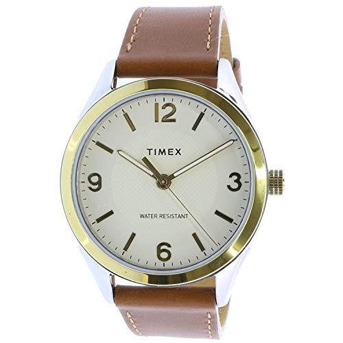 タイメックス 腕時計 メンズ 【送料無料】Timex Men's Biarwood TW2T67000 Gold Leather Japanese Quartz Fashion Watchタイメックス 腕時計 メンズ