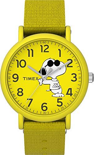 タイメックス 腕時計 メンズ 【送料無料】Timex Men's Acrylic Quartz Watch with Textile Strap, Yellow, 16 (Model: TW2T65900)タイメックス 腕時計 メンズ
