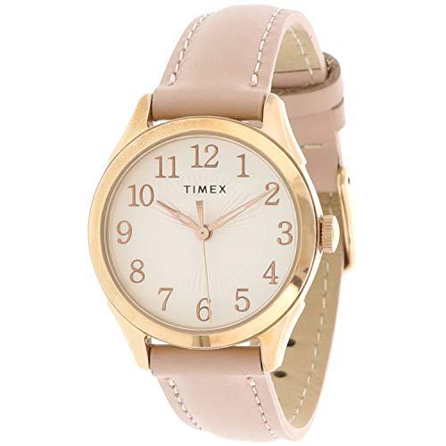 タイメックス 腕時計 レディース 【送料無料】Timex Women's Briarwood TW2T66500 Rose-Gold Leather Quartz Fashion Watchタイメックス 腕時計 レディース