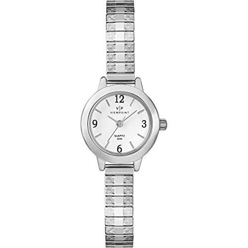 タイメックス 腕時計 レディース 【送料無料】Timex Viewpoint Women's Silver-Tone Stainless Steel Expansion Band Watch - CC3D83300タイメックス 腕時計 レディース