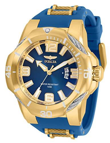 インヴィクタ インビクタ 腕時計 メンズ 【送料無料】Invicta Men's Bolt Quartz Watch with Stainless Steel and Silicone Strap, Blue and Gold, 30 (Model: 31171)インヴィクタ インビクタ 腕時計 メンズ