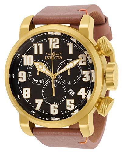 インヴィクタ インビクタ 腕時計 メンズ 【送料無料】Invicta Men's Aviator Stainless Steel Quartz Watch with Leather Strap, Brown, 26 (Model: 31683)インヴィクタ インビクタ 腕時計 メンズ