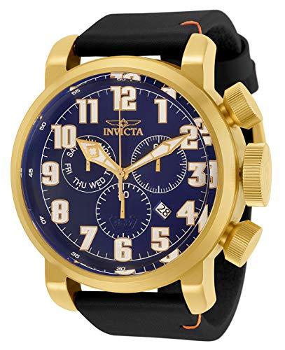 インヴィクタ インビクタ 腕時計 メンズ 【送料無料】Invicta Men's Aviator Stainless Steel Quartz Watch with Leather Strap, Black, 26 (Model: 31684)インヴィクタ インビクタ 腕時計 メンズ