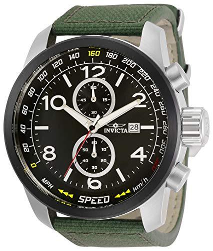 インヴィクタ インビクタ 腕時計 メンズ 【送料無料】Invicta Aviator Men 50mm Stainless Steel Stainless Steel Black dial Quartz, 30732インヴィクタ インビクタ 腕時計 メンズ