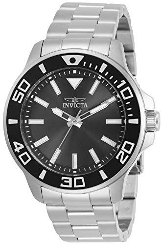 【気質アップ】 腕時計 インヴィクタ インビクタ メンズ 【送料無料】Invicta Pro Diver Men 46mm Stainless Steel Stainless Steel Charcoal dial Quartz, 30744腕時計 インヴィクタ インビクタ メンズ, オオクチシ 0ab8aad0