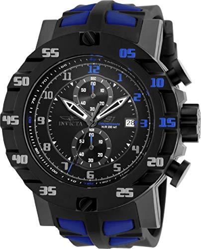 インヴィクタ インビクタ 腕時計 メンズ 【送料無料】Invicta Mens S1 Rally Evolution Japanese SII VD51 Quartz Chronograph Black & Blue Watchインヴィクタ インビクタ 腕時計 メンズ