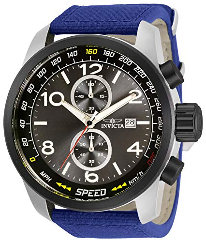 インヴィクタ インビクタ 腕時計 メンズ 【送料無料】Invicta Aviator Men 50mm Stainless Steel Stainless Steel Black dial Quartz, 30734インヴィクタ インビクタ 腕時計 メンズ