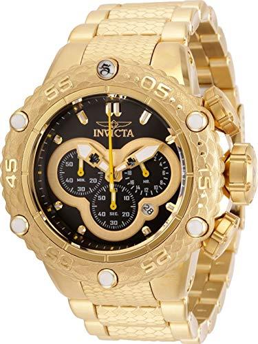 インヴィクタ インビクタ 腕時計 メンズ 【送料無料】Invicta Men's 52mm Subaqua Noma VI Chronograph 18K Gold Plated Black Dial Stainless Steel Bracelet Watchインヴィクタ インビクタ 腕時計 メンズ