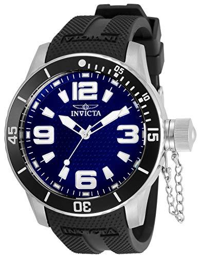 腕時計 インヴィクタ インビクタ メンズ 【送料無料】Invicta Specialty Men 48mm Stainless Steel Stainless Steel Blue dial Quartz, 30698腕時計 インヴィクタ インビクタ メンズ