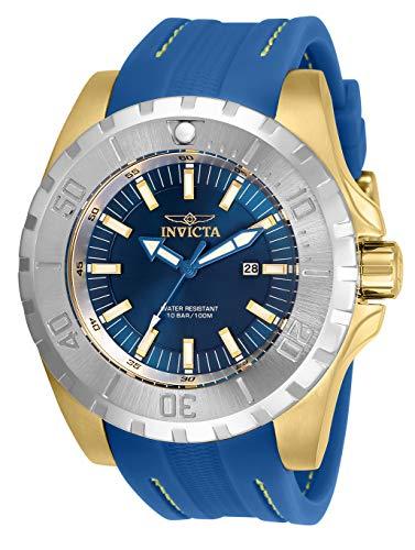 インヴィクタ インビクタ 腕時計 メンズ 【送料無料】Invicta Pro Diver Men 52mm Stainless Steel Gold Blue dial Quartz, 30761インヴィクタ インビクタ 腕時計 メンズ