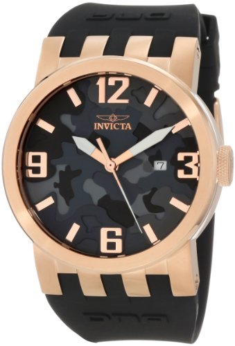 インヴィクタ インビクタ 腕時計 メンズ 【送料無料】Invicta Men's 10448 DNA Grey Camouflage Dial with Black Silicone Strap Watchインヴィクタ インビクタ 腕時計 メンズ