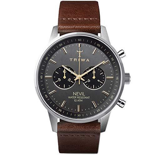 トリワ 腕時計 メンズ 北欧 ヨーロッパ 【送料無料】TRIWA Nevil Men's Minimalist Watch ? Chronograph Wrist Watches for Men, 42mmトリワ 腕時計 メンズ 北欧 ヨーロッパ
