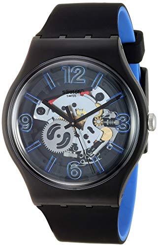 腕時計 スウォッチ レディース 夏の腕時計特集 【送料無料】Swatch 1907 BAU Quartz Silicone Strap, Black, 19.5 Casual Watch (Model: SUOB165)腕時計 スウォッチ レディース 夏の腕時計特集