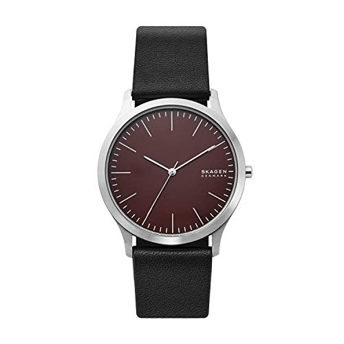 腕時計 スカーゲン メンズ 【送料無料】Skagen Men's Jorn Stainless Steel Quartz Watch with Leather Strap, Brown, 22 (Model: SKW6600)腕時計 スカーゲン メンズ