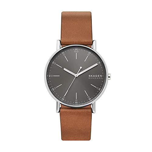 スカーゲン 腕時計 メンズ 【送料無料】Skagen Men's Signatur Stainless Steel Quartz Watch with Leather Strap, Brown, 20 (Model: SKW6578)スカーゲン 腕時計 メンズ