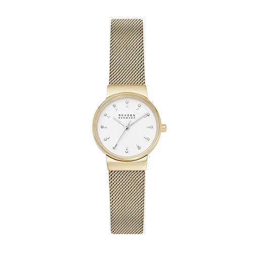腕時計 スカーゲン レディース 【送料無料】Skagen Women's Ancher Quartz Watch with Stainless Steel Strap, Gold, 14 (Model: SKW7202)腕時計 スカーゲン レディース